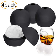 4PCS large very big Ice Ball Molds, 2.5 Inch Large Silicone Round Spherical Ice Cube Maker Keep your Whiskey Chilled and Strong