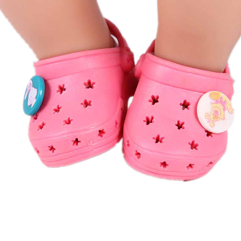 Only 60PCS ! Baby Born Zapf Doll Accessories Pink Shoelace Charms Sandals Doll Shoes Fit 43cm Baby Born Zapf Doll DS28 baby born doll clothes pink retro princess dress fit 43cm baby born zapf or 17inch doll accessories high quality love 182