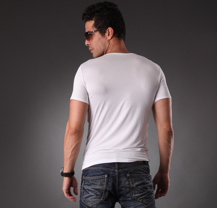 RL Brand Natrual Modal Fitness T-shirt Տղամարդկանց - Տղամարդկանց հագուստ - Լուսանկար 2