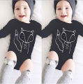Infant Newborn Baby Boys Girls Cotton Long Sleeve Fox Bodysuit Jumpsuit Outfits Sunsuit Clothes