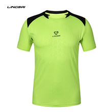 Colorblock Running Shirt Men Tops Tees Men's T-shirt Training Badminton short Sleeve Gym Fitness Soccer Jerseys hiking(China)