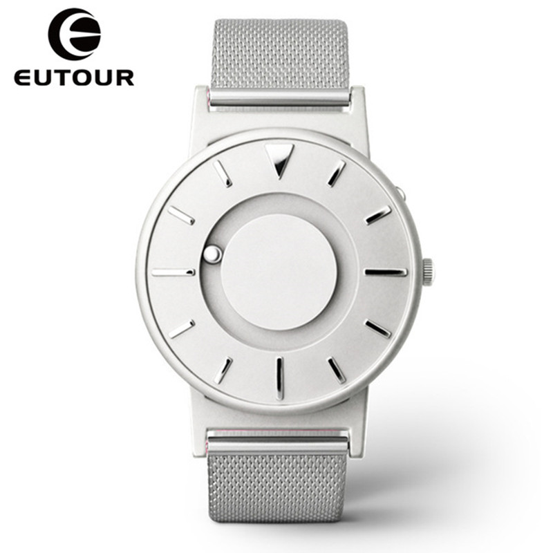 Eutour Magnetic Watch Men Luxury Brand Quartz Women Wrist Watches Fashion Casual Ladies Stainless Steel Watch