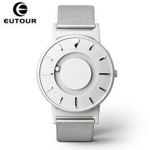 Eutour Magnetic Ball Watch Men Luxury Brand Quartz Wrist Watches Casual Stainless Steel Man Watch Waterproof Clock dropshipping