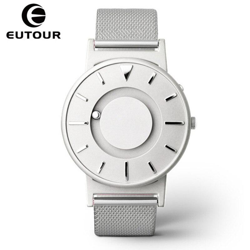 Eutour магнитные часы Для мужчин Элитный бренд кварцевые Для женщин наручные часы Мода Повседневное дамы Нержавеющаясталь часы relogio masculino