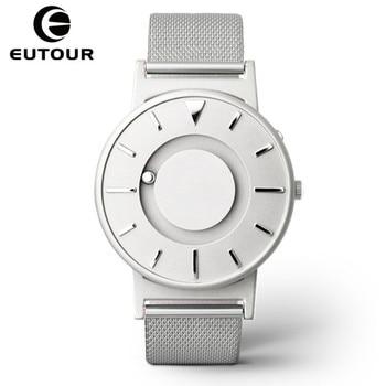 цена на Eutour Magnetic Watch Men Luxury Brand Quartz Women Wrist Watches Fashion Casual Ladies Stainless Steel Watch relogio masculino