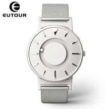 Eutour magnetyczny zegarek mężczyźni luksusowa marka zegarki kwarcowe damskie moda Casual Ladies zegarek ze stali nierdzewnej relogio masculino