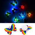10 PCS Romantic Butterfly Wall Nightlights Night Light Lamp With Suction Pad For Children Christmas Wedding Decoration Lamp