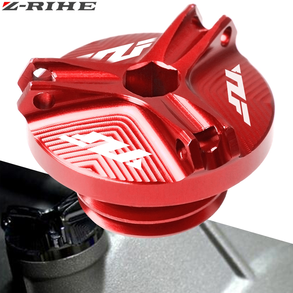 Motorcycle Engine Oil Filter Cup Plug Cover Screw For YAMAHA YZF R1 R3 R6 YZFR1 YZFR6 CNC Aluminum Accessories one piece FOR YZF