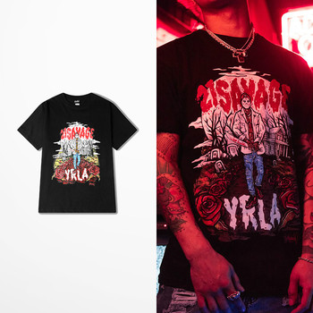 European American Street Wear Tide Brand Funny T Shirts Men Rock Punk Dance T-shirts Skateboard Hip Hop Drake Souls Tee Shirt 1