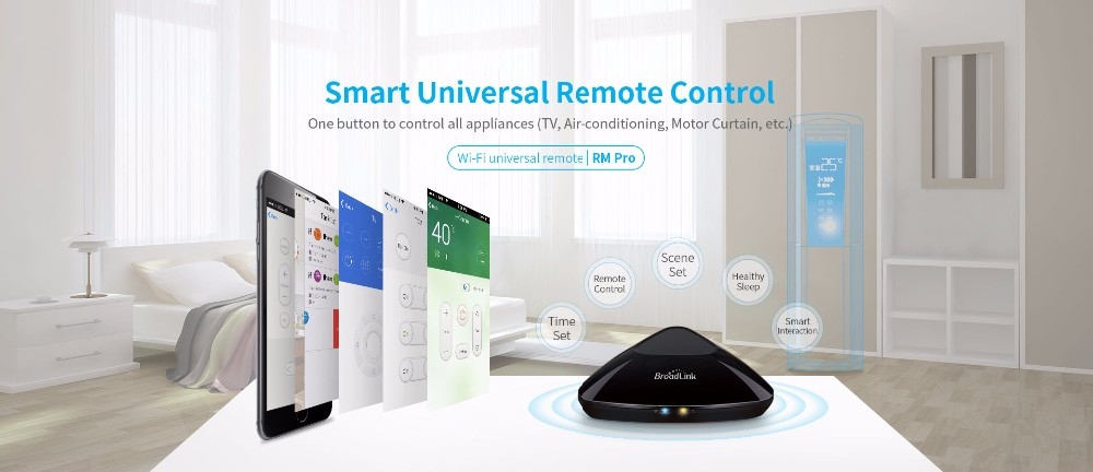 Broadlink RM Pro RM3 2018 Nouvelle Version RM Mini 3 Universel Intelligent IR + RF + Wifi À Distance Contrôleur Pour Ios Android Smart Home 11
