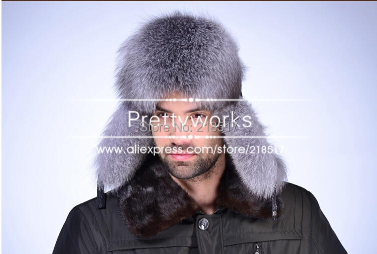 Fur Hat Cap Fox-Fur-Hat Winter Genuine-Leather Male And Autumn D-1859 Ear-Protector Feng