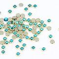 100 Шт./лот 3D Шарм Блеск Сплава Синий Nail Art Стразы Для Ногтей Украшения Кристалл Для Украшения Ногтей Камни PJ332