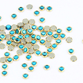 100 Unids/lote 3D Del Encanto Del Brillo Azul de la Aleación Del Arte Del Clavo Rhinestones Para Uñas Decoraciones De Cristal Para La Decoración de Uñas Piedras PJ332
