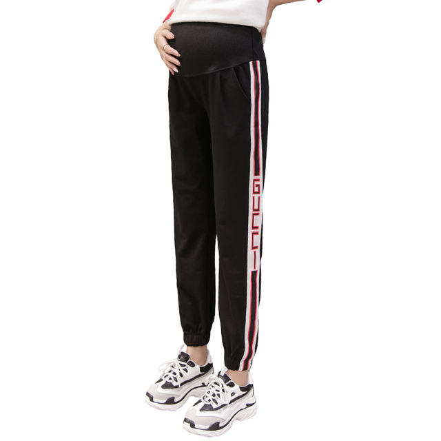 8278d0e1d282e Fashion Maternity Sports Pants Sweatpants Pregnancy Clothes For Pregnant  Women Casual Pregnancy Clothing Trousers Winter