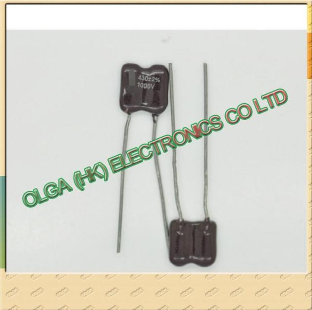 430pF 1000V 2% דיוק נציץ קבלים (0.43nF) ו.