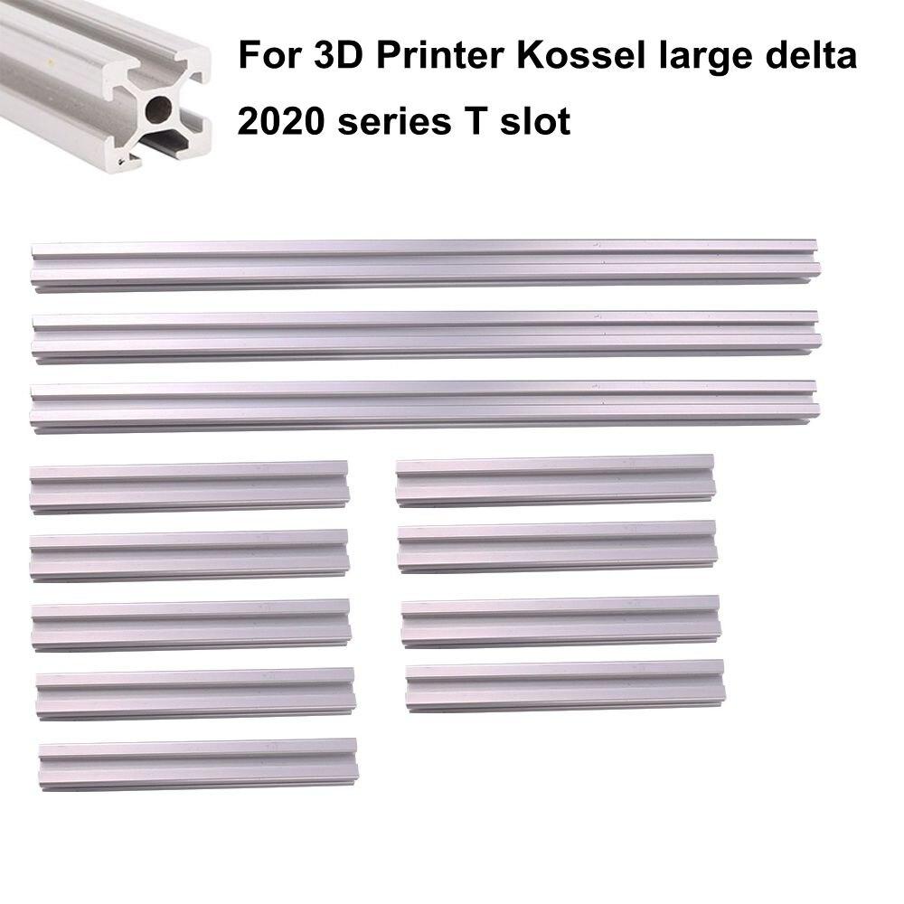 Profilé d'extrusion en aluminium t-slot 2020 3 pièces x 1000mm 9 pièces x 395mm pour imprimante 3D Kossel grand Delta