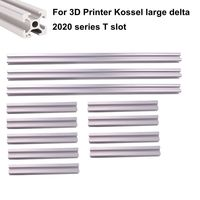 T Slot Aluminum Extrusion Profile 2020 3pcs x 1000mm 9pcs x 395mm for 3D Printer Kossel Large Delta
