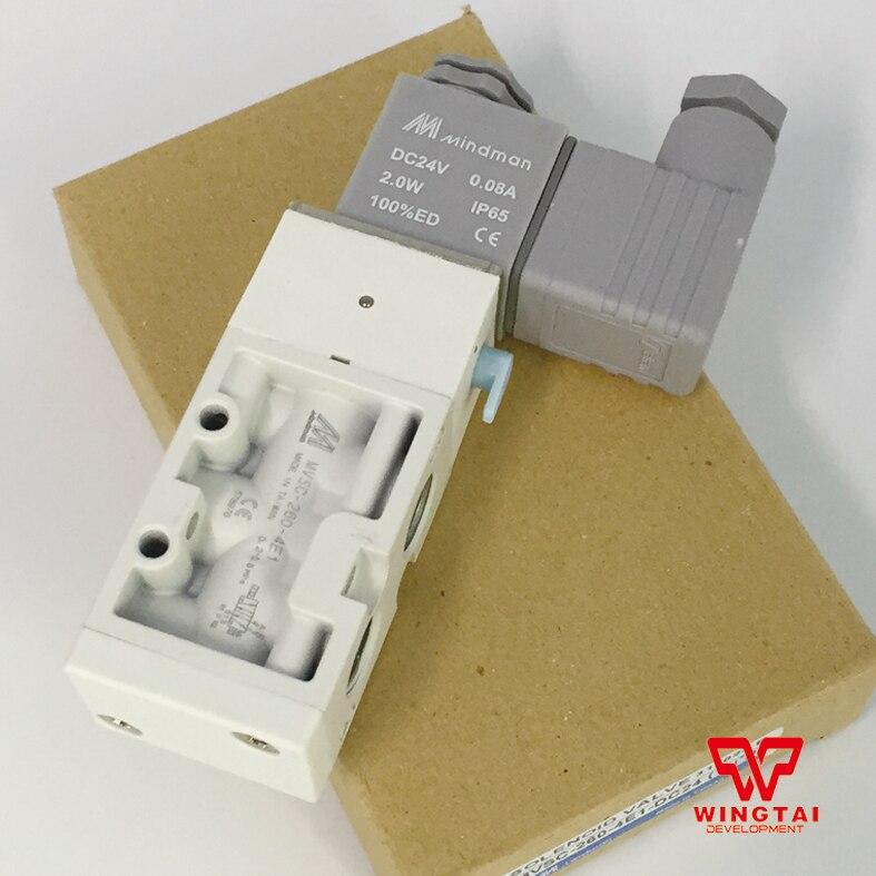 Mindman Solenoid Valve MVSC-260-4E1 DC24V Two-position/Five-pass White Color Solenoid Valve AC110V/220V,50/60Hz, DC24V new mindman solenoid valve mvsd 180 4e1 mvsd1804e1 coil ac220v