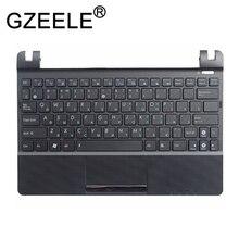 Русская клавиатура GZEELE для ноутбука ASUS Eee PC X101H X101CH X101, русская клавиатура с C корпусом, подставка для рук, чехол, верхняя черная клавиатура с ободком