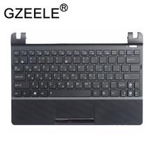 GZEELE RU ل ASUS Eee PC X101H X101CH X101 لوحة مفاتيح الكمبيوتر المحمول الروسية مع C قذيفة palmrest غطاء العلوي لوحة المفاتيح الحافة السوداء