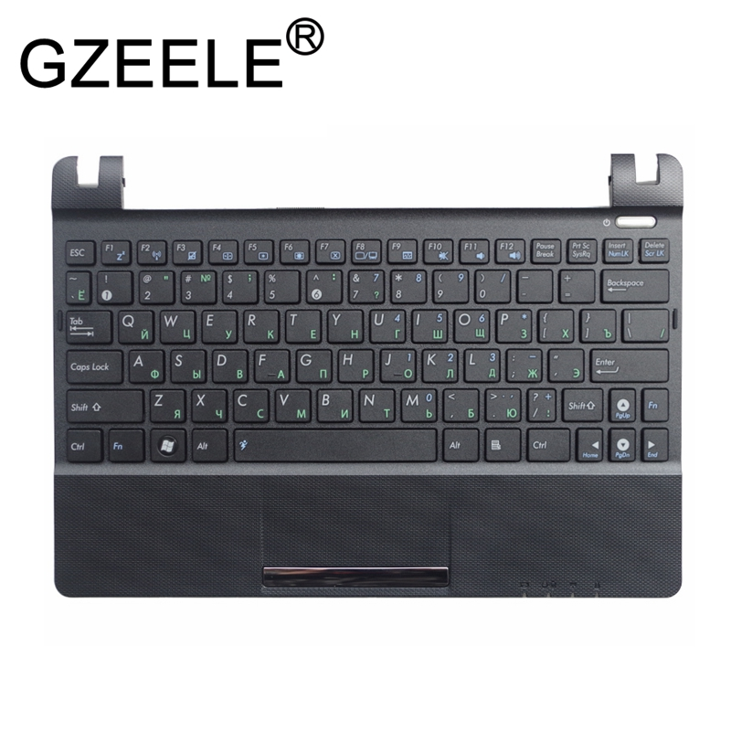 GZEELE RU FOR ASUS Eee PC X101H X101CH X101 Laptop Keyboard Russian with C shell palmrest cover upper case keyboard bezel BLACK-in Replacement Keyboards from Computer & Office on