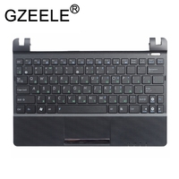 GZEELE RU FOR ASUS Eee PC X101H X101CH X101 Laptop Keyboard Russian with C shell palmrest cover upper case keyboard bezel BLACK