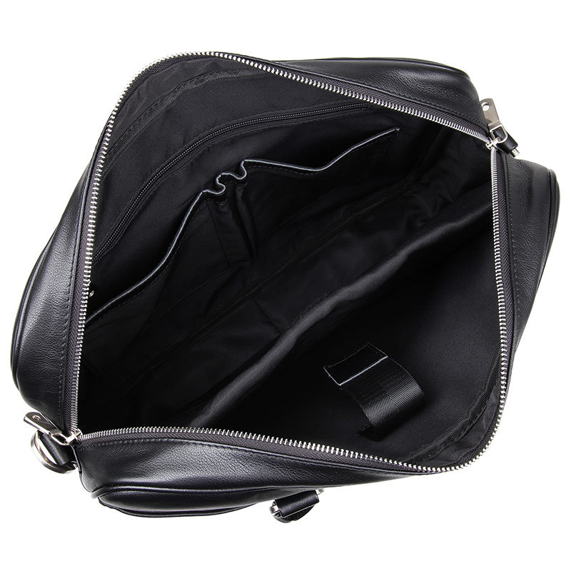 ''laptop Geschäfts Förderung Männlichen Nesitu Aktentasche Leder Echtes Portfolio M7349 Schwarz Reisetasche 14 Männer Messenger Taschen SdCw70q
