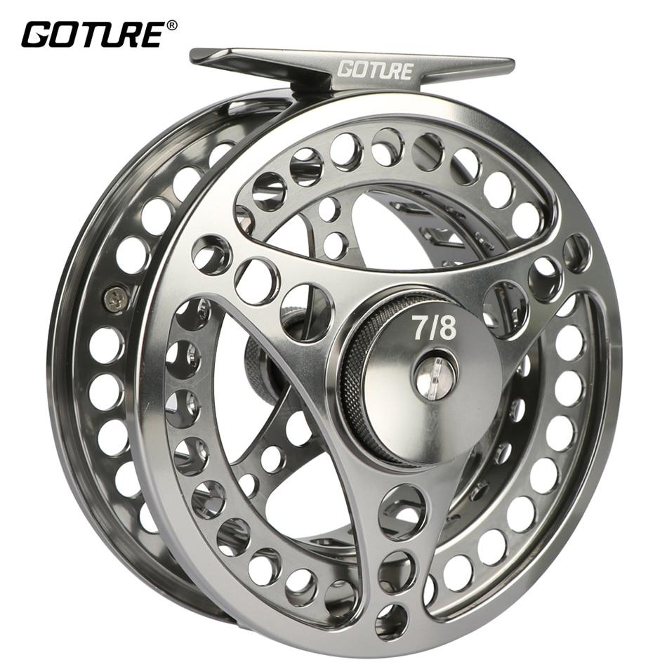 Goture Brand Disc Drag System Precise CNC Machine Cut Coil Fly Fishing Reel 3/4 5/6 7/8 9/10WT Aluminum Alloy Trout Fishing Reel удочка зимняя salmo precise drag зелён