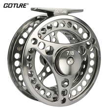 Goture Brand Disc Drag System Precise CNC Machine Cut Coil Fly Fishing Reel 3/4 5/6 7/8 9/10WT Aluminum Alloy Trout Fishing Reel