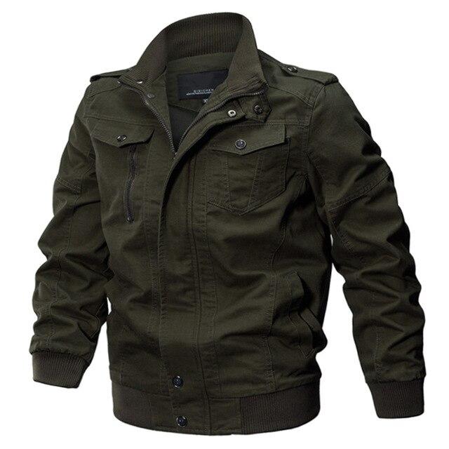 Uomini Giacca Invernale Cappotto Giacca di Cotone degli uomini Dell'esercito militare Pilota Giacche calde Air Force moda adolescenti abbigliamento