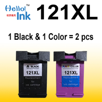 2pcs 121XL Remanufactured For HP 121 XL Ink Cartridge For HP Deskjet D2563 F4283 F2483 F2493