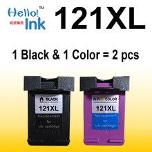 Для HP 121 HP 121 121XL XL Цвет картридж 2 шт. CC641HE CC644HE 641 644 для HP Deskjet D2563 F4283 F2423 F2483 F2493 принтера