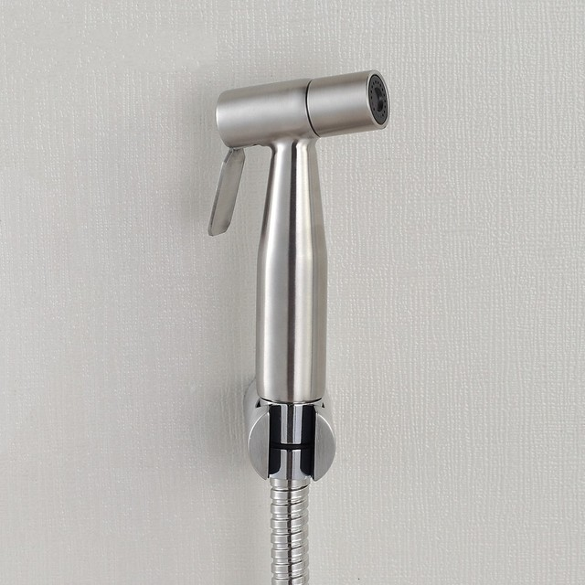 Toilet Solid Stainless Steel Hand Held Bidet Spray Shower Head