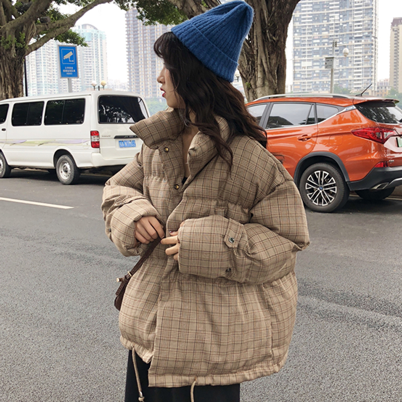 ARANSUE 2018 New korean version coat Short Chic Cotton Clothes female casual loose coat warm   parkas   women winter tops