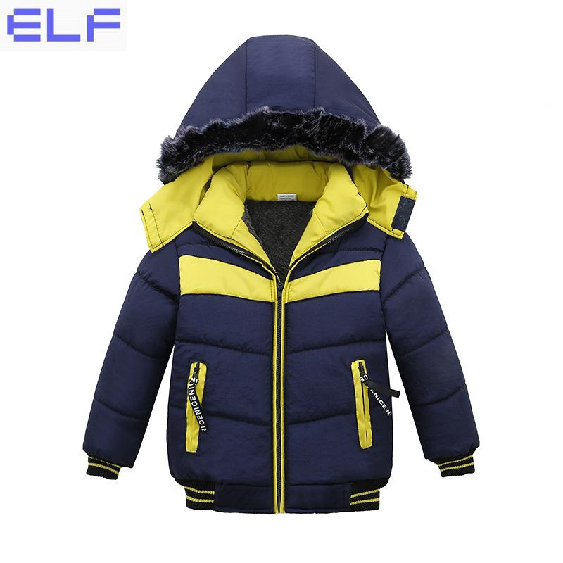 2017 New Fashion Patchwork Boys Jacket Outwear Warm hooded Winter jackets for boy coat Children Winter Clothing boy winter coat jacket children winter jackets for boys casual hooded warm coat kids clothing outwear fashion boys parka jacket