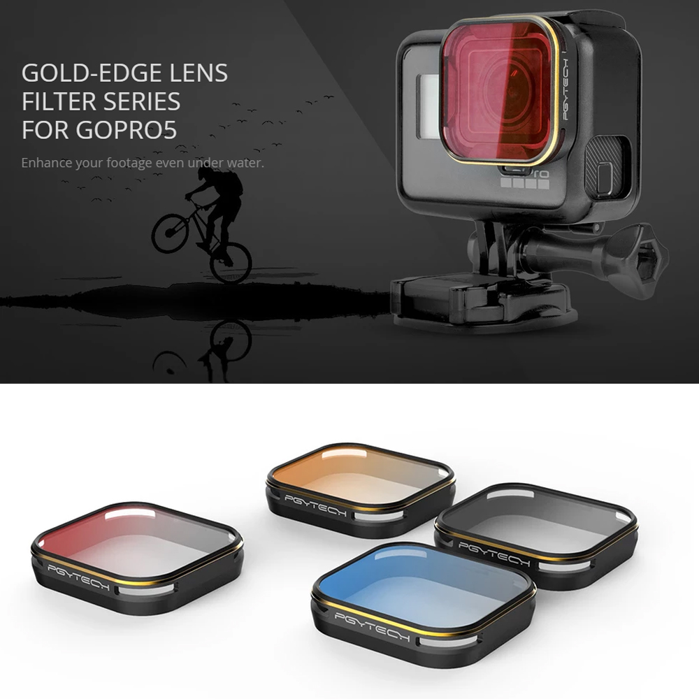 PGYTECH Brand GOLD EDGE lens filter Diving Filter Gradient color filters series For Gopro 5 6