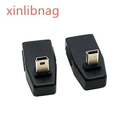 2pcs 90 Degree Up &#038; Down Right Angled Mini USB Type B to USB Female OTG Adapter for Tablet &#038; <font><b>Cell</b></font> <font><b>Phone</b></font>