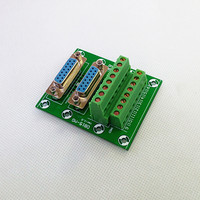 D SUB DB15 Double Female Header Breakout Board Terminal Block Connector