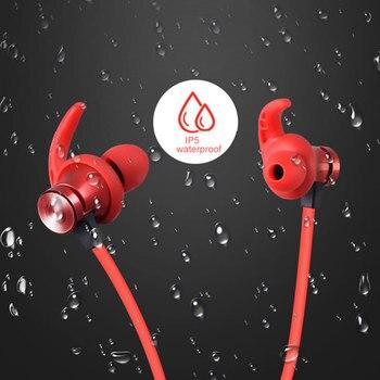Auriculares deportivo magnético Bluetooth 5,0 a prueba de agua con ranura para tarjeta TF manos libres para Xiaomi iPhone ganchos auriculares Accesorios