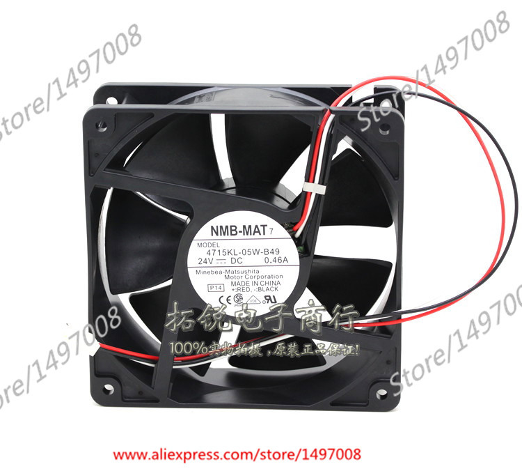NMB-MAT 4715KL-05W-B49, P14 DC 24V 0.46A 120X120X38mm Server Square fan nmb 4715kl 04t b30 cooling fan dc 12v