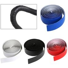 2Pcs Bike Cycling Road Handlebar Carbon Fiber Tape Wrap Belt Strap + 2 Bar Plugs