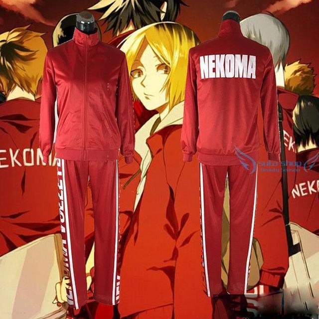 Movie Fashion Clothes 2015 Anime Haikyuu Volleyball Club Nekoma Tetsurou Kuroo Kenma Kozume School Uniform Jacket