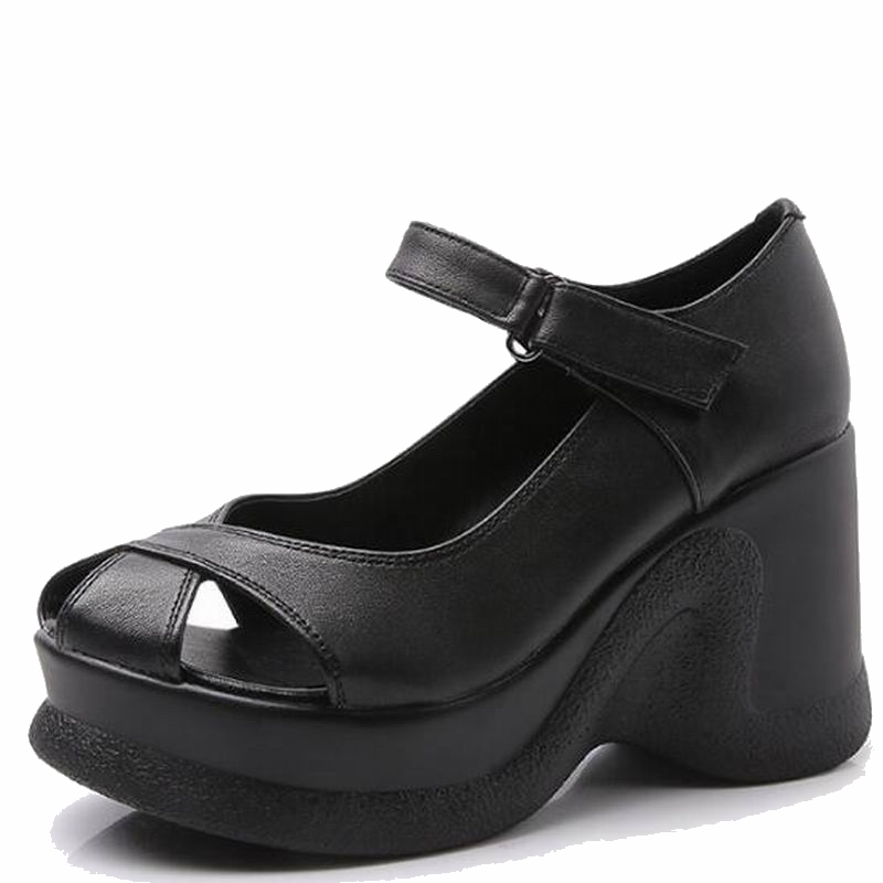 Coin Femmes 2018 Chaussures Beige Cuir Timetang En gris Nouveau Le Mode Sandales Talons D'été Femme noir Véritable De vUq1X