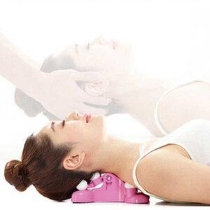 Almohada de masaje para cuello, alivio del dolor, masaje de tracción Cervical, relajación, equipo de estiramiento de espalda, relajación, tracción de cuello, masaje para mujeres