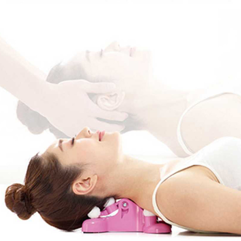Neck massage pillow Pain Relief Cervical Traction Massage Relaxation Back Stretching Equipment Relax Neck Traction Women Massage(China)