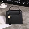 LINLANYA Плечо сумка для Женщины Вестник мешки Моды Кисточкой Сумки черный Верхнюю ручку сумки ИСКУССТВЕННАЯ Кожа Bolsas Y-426