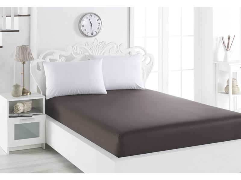 Bed Sheet with elastic band KARNA, LOFT, 240*260 cm, chocolate pu elastic band appliques thong womens sandals