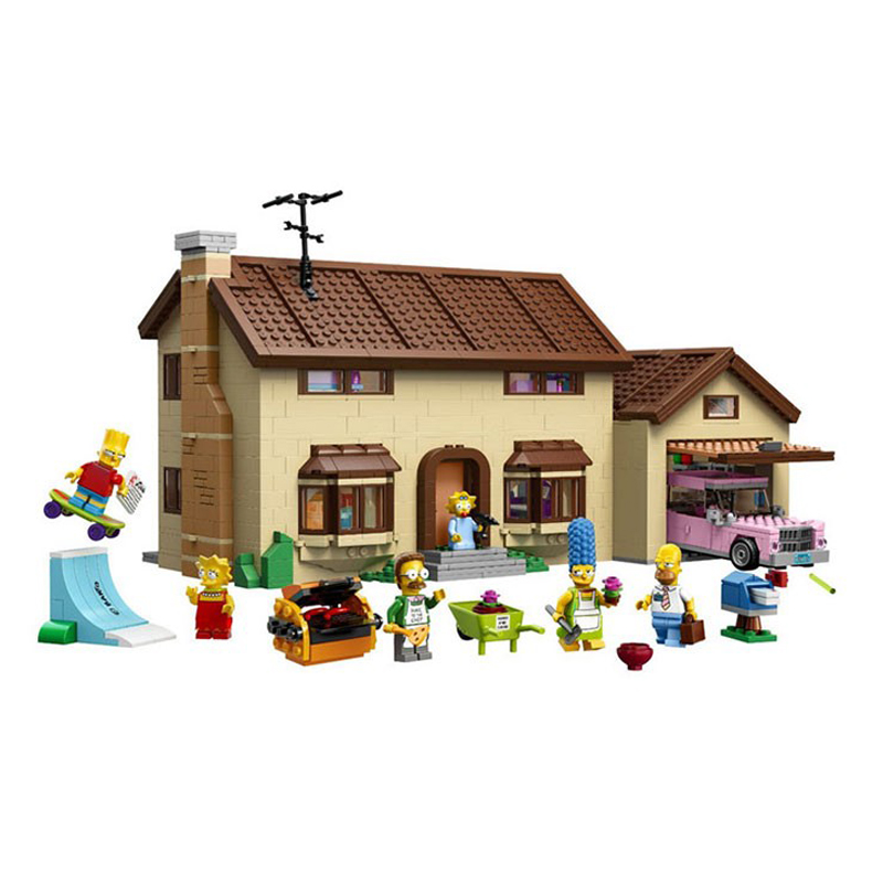 Lepin 16005 Simpsons House 2575Pcs Model Building Block Bricks Compatible Legoed 71006 Boy Gift