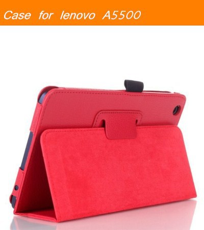 Case Cover for Lenovo Tab A8-50 A5500 8 Inch Tablet Folio PU Leather Tablet PC 5 Colors for Lenovo A5500 Case Free Shipping free shipping new 10 1 original stand magnetic leather case cover for lenovo ibm thinkpad 10 tablet pc with sleep function