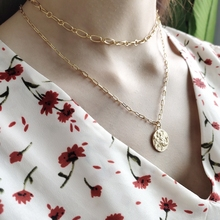 LouLeur 925 sterling silver Mermaid dance girls necklace round gold  Long hair flying elegant pendant necklace for women jewelry